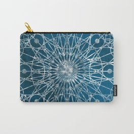Rosette Window - Blue Carry-All Pouch