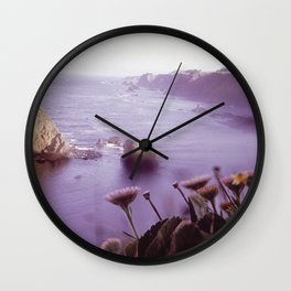 VOLCANIC ROCKS JUT FROM SEA NEAR KING MOUNTAIN COASTAL RANGE NARA 542917 Wall Clock