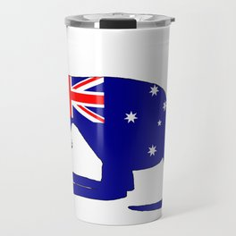 Australian Flag - Kangaroo Travel Mug