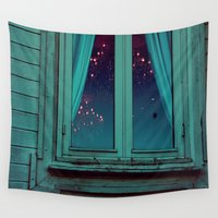 window Wall Tapestries featuring Window by Sushibird