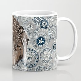 pangolin mandala pewter Coffee Mug