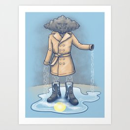 I think it only made it rain more Art Print