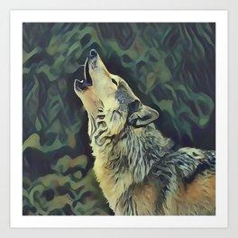 A Wolf Call Art Print
