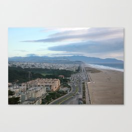 Ocean Side in San Francisco Canvas Print