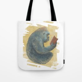 The Scholarly Ape Tote Bag