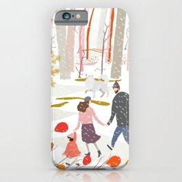 Winter Stroll Around the Woods iPhone Case