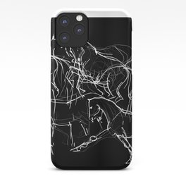 Horses (Movement on black) iPhone Case