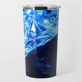 This Cold Elegance in Chrome Folds  Travel Mug