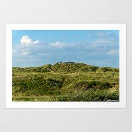 Bunker Landscape Denmark Nymindegab Art Print