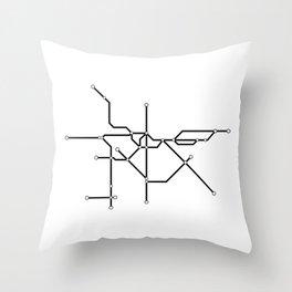 Metro São Paulo Throw Pillow