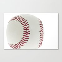 baseball Canvas Prints featuring Baseball by Pedro Nogueira