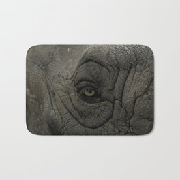 Rhino Eye Closeup Bath Mat
