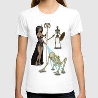 skeleton T-shirts featuring Skeleton by Egberto Fuentes