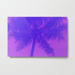Palm Tree Pink Purple Summer Beach Metal Print
