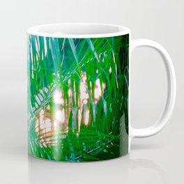 Sunset Through Palms Coffee Mug
