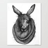 kangaroo Canvas Prints featuring Kangaroo  by Tim Van Den Eynde