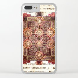 Book of Kells Carpet Page On Script Clear iPhone Case