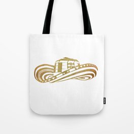 Colombian Sombrero Vueltiao in Gold Leaf Style Tote Bag