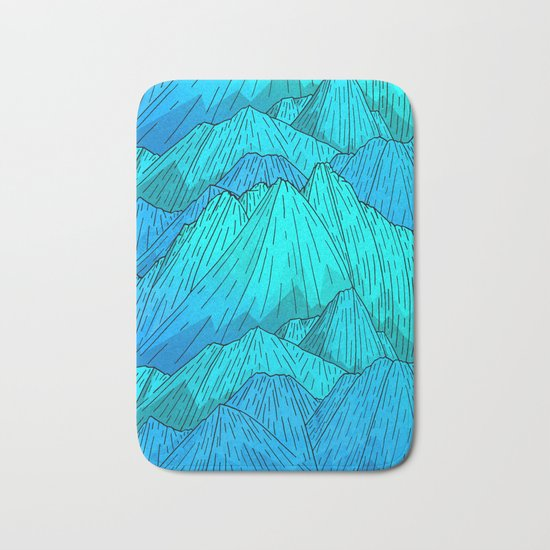 The Cool Blue Mounts Bath Mat