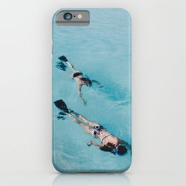 swimming in ocean iPhone Case