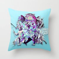 lebron Throw Pillows featuring LEBRON MVP 2013 by mergedvisible