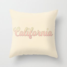 california Throw Pillow