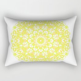 Mandala 12 / 1 eden spirit yellow white Rectangular Pillow