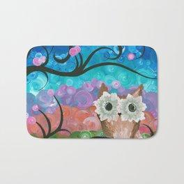 OwlArtwork By MiMi Stirn - Owl Expressions #360 Bath Mat