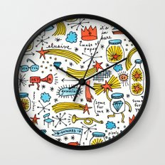 chasing stars and putting them in jars Wall Clock