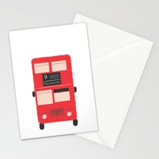 Red Double Decker Bus  Stationery Cards