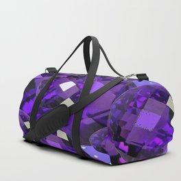PURPLE AMETHYST FACETED  JEWEL GEMS BIRTHSTONE Duffle Bag