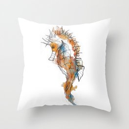 Sea horse Throw Pillow