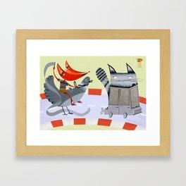 Sam the Fox Framed Art Print