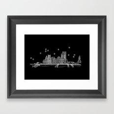 Pittsburgh, Pennsylvania City Skyline Framed Art Print