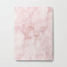 Sivec Rosa - cloudy pastel marble Metal Print