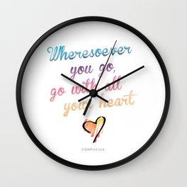 Confucius Say Wall Clock