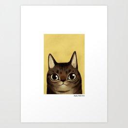 Striped cat Art Print
