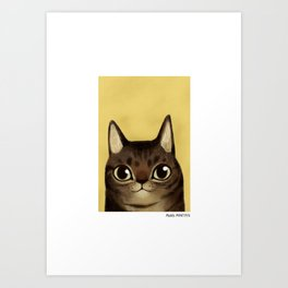 Striped cat Art Print