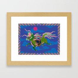 Colourful Animal Kirin Decoration Framed Art Print