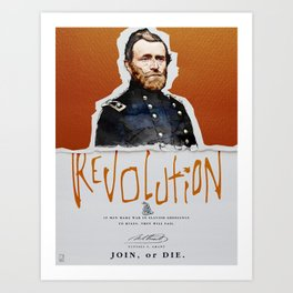 Ulysses S. Grant, Revolution, Join Or die Art Print