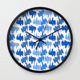 Buffalo Blues Wall Clock