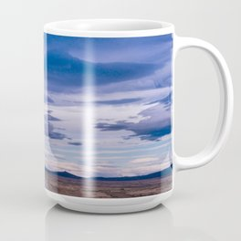 Wind and empty roads in Patagonia. Coffee Mug