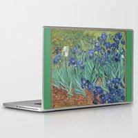 van gogh Laptop & iPad Skins featuring Vincent van Gogh - Irises by Elegant Chaos Gallery