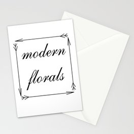 Modern Florals and Arrows Stationery Cards