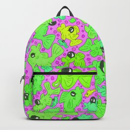 Fishy Fish Frenzy Neon Toxic Backpack