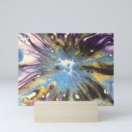 Blue Purple Galaxy Mini Art Print