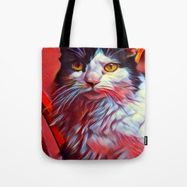 The TUXEDOfrom our FUNK YOUR FELINE line Tote Bag