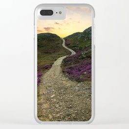 Sunset at Skye Island Clear iPhone Case