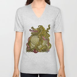 Dragon Royal Gold Unisex V-Neck