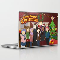 fangirl Laptop & iPad Skins featuring A Very Fangirl Christmas by Leigh Lahav